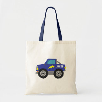 Racing Blue Monster Truck, for Boys Budget Tote Bag