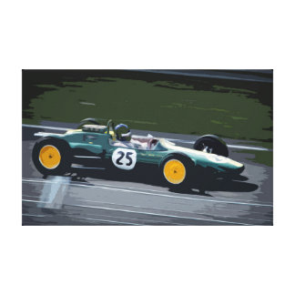 Racing Car at High Speed in Competition Canvas