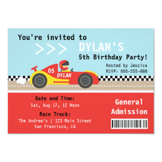 Shop Zazzle's selection of car birthday invitations for your party!