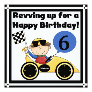 Racing Car Customized Birthday Invites