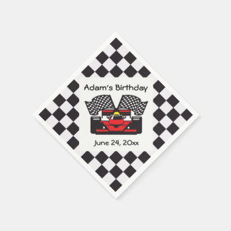Racing Car Design Paper Napkins