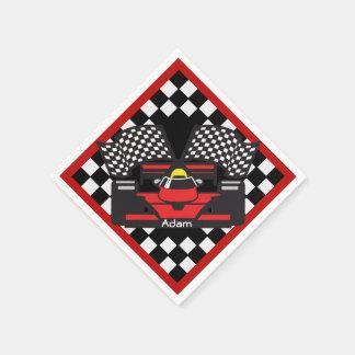 Racing Car Design Paper Napkins Disposable Napkin