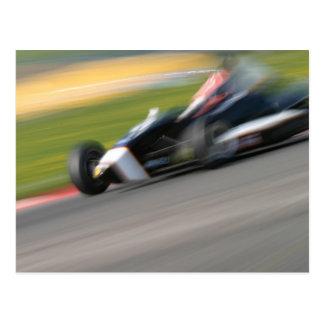 Racing Car Postcard