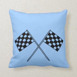 Racing Checkered Flags Cushion