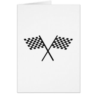 Racing Checkered Flags Note Card