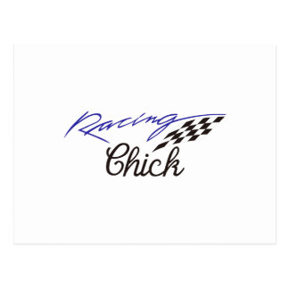 Racing Chick Postcard