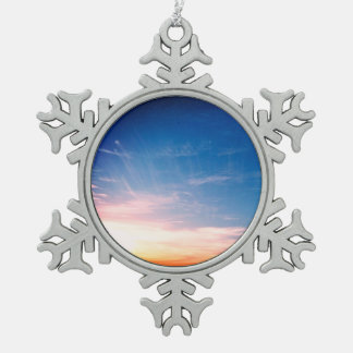 Racing Clouds Pewter Snowflake Decoration