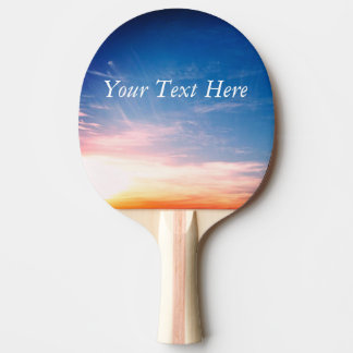 Racing Clouds Ping Pong Paddle
