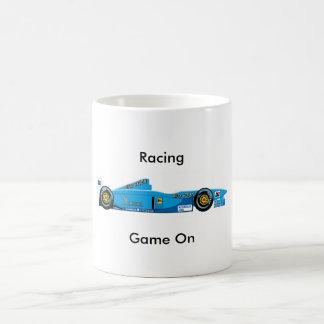 Racing cup basic white mug