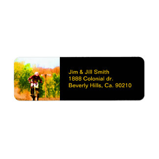 Racing Dirtbike Daredevil Return Address Label