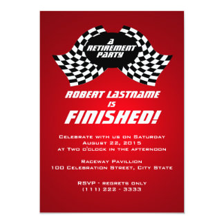 Racing Flags Retirement Party Red Card