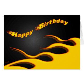 Racing Flames: Happy Birthday Card