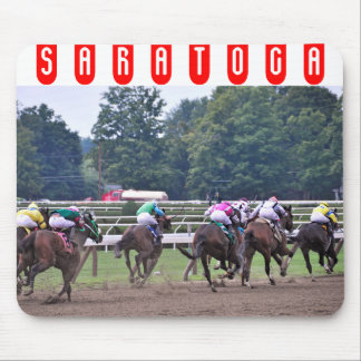 Racing from Historic Saratoga Race Course Mouse Pad