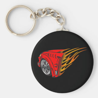 Racing Gear Basic Round Button Key Ring