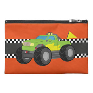 Racing Green Monster Truck for Racer Boys Travel Accessories Bags