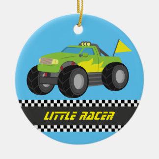 Racing Green Monster Truck Racer Boys Room Decor Ceramic Ornament