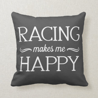 Racing Happy Pillow - Assorted Styles & Colors Cushion