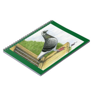 Racing Homer On the Landing Board Notebook