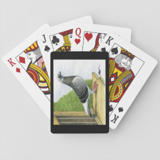 Racing Homer On the Landing Board Playing Cards