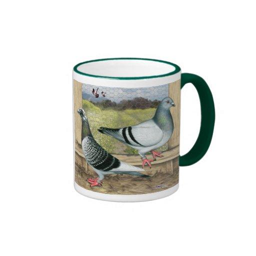 Racing Homers in Loft Coffee Mugs