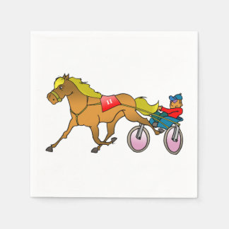 Racing Horse And Buggy Paper Napkins