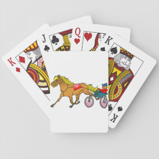 Racing Horse And Buggy Playing Cards