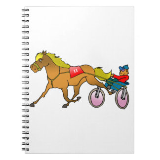 Racing Horse And Buggy Spiral Notebook