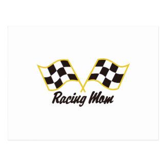 Racing Mom Postcard