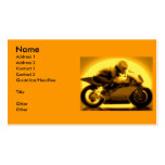 Racing Motorcycle Business Card Template