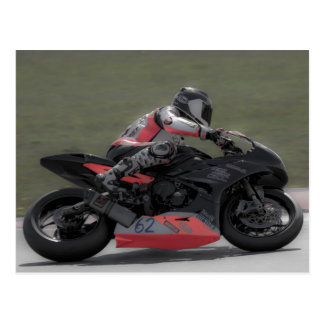 Racing motorcycle post cards