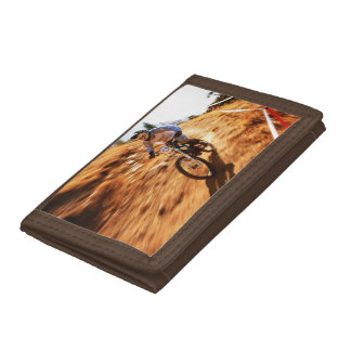 Racing Offroad Dirtbike Trifold Wallet