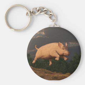 Racing Pig Key Chain