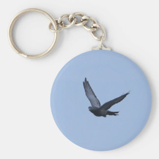 Racing Pigeon Coming Home Keychain