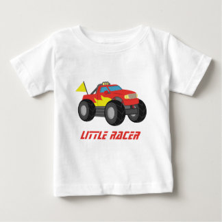 Racing Red Monster Truck, for Baby Boys Baby T-Shirt