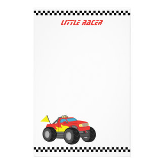 Racing Red Monster Truck, for Racer Boys Personalised Stationery