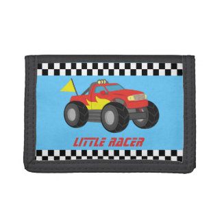 Racing Red Monster Truck Racer Boy Wallet