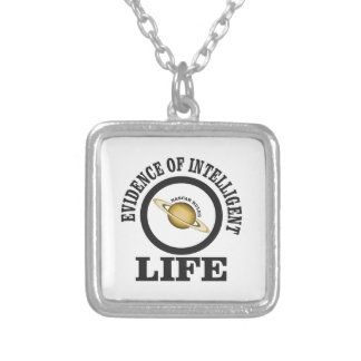 racing rules silver plated necklace