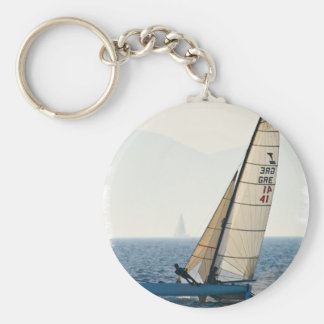 Racing Sailboat Keychain