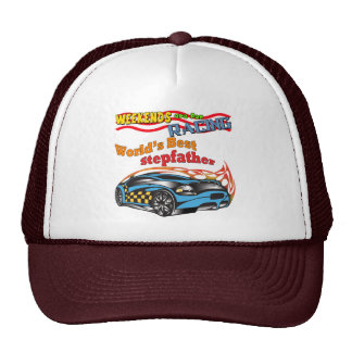 Racing Stepfather Father's Day Gifts Trucker Hat