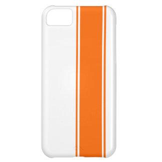 Racing Stripes - Orange iPhone 5C Case