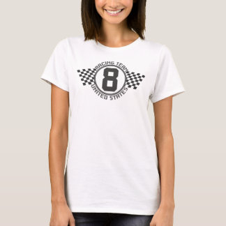 Racing Team 8 United States with Racing Flags T-Shirt