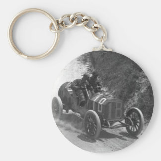 Racing team basic round button key ring