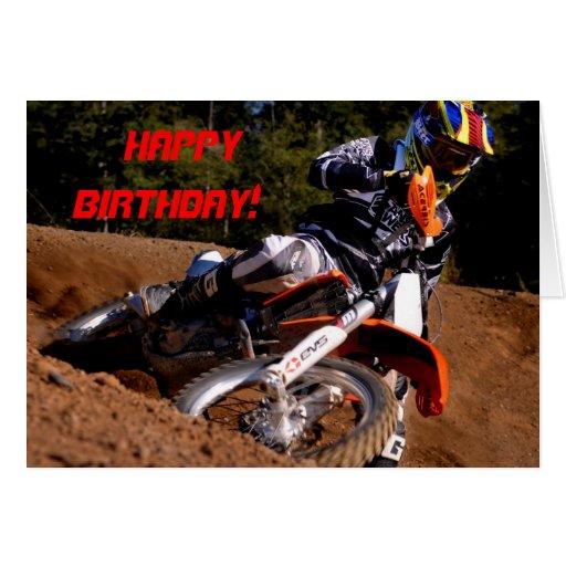 Racing through the turn Birthday card