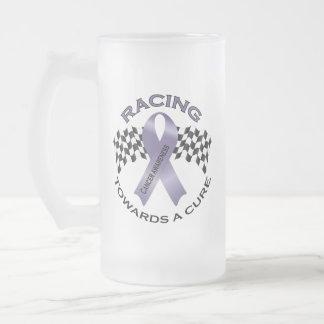 Racing Towards a Cure - All Cancer - Beer Mug