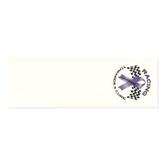 Racing Towards a Cure - All Cancer - Sm. Card Business Card Templates