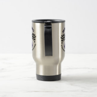 Racing Towards a Cure - All Cancer - travel cup Coffee Mugs