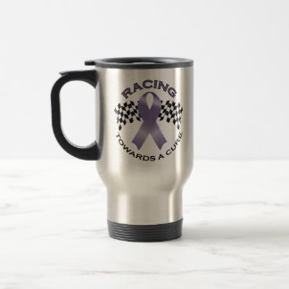 Racing Towards a Cure v2 - All Cancer - Travel Cup Mug