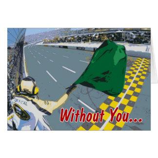 Racing Valentine Greeting Card