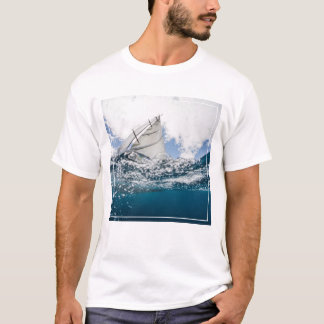 Racing Yacht At The Americas Cup Race T-Shirt
