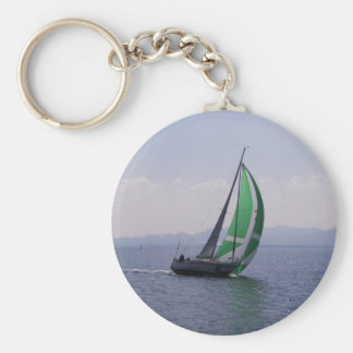 Racing yacht. key ring